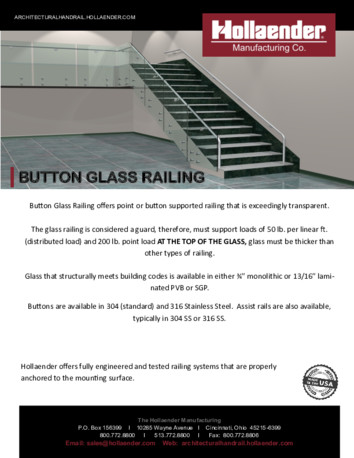 Button Glass Railing