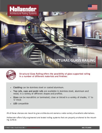 Structural Glass Railing Product Data