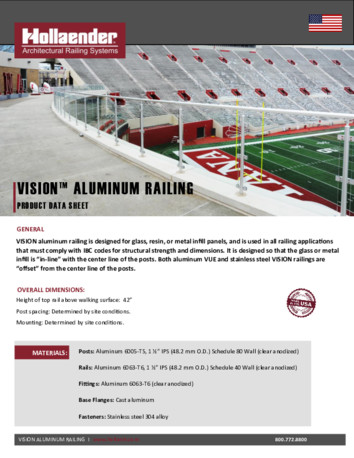 VISION™ Aluminum Product Data Sheet
