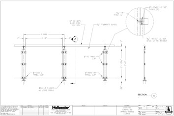 VISION™ Aluminum Railing Drawing